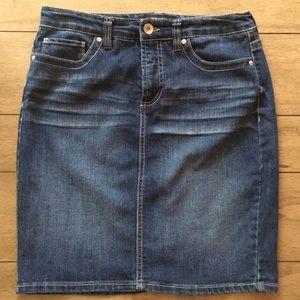 Women's 9 west denim skirt